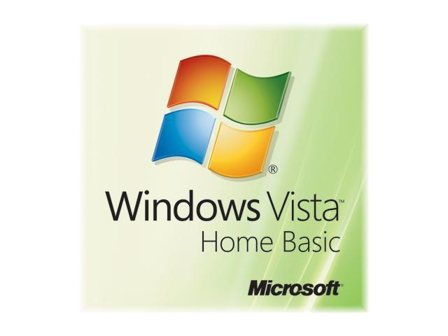 Microsoft Windows Vista Home Basic 64-bit 3 Pack for System Builders