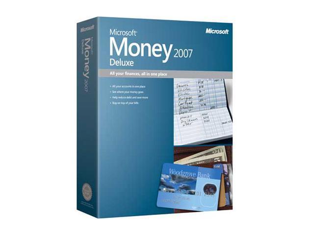 Microsoft Money 2007 Deluxe CD MiniBox