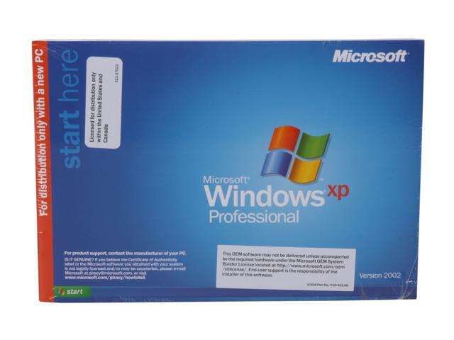 Microsoft Windows XP Professional SP3 English 1-Pack