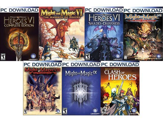 Might & Magic Power Pack (VI, VII, VIII, IX, Clash of Heroes, Mandate of Heaven, Shades of Darkness) [Online Game Codes]