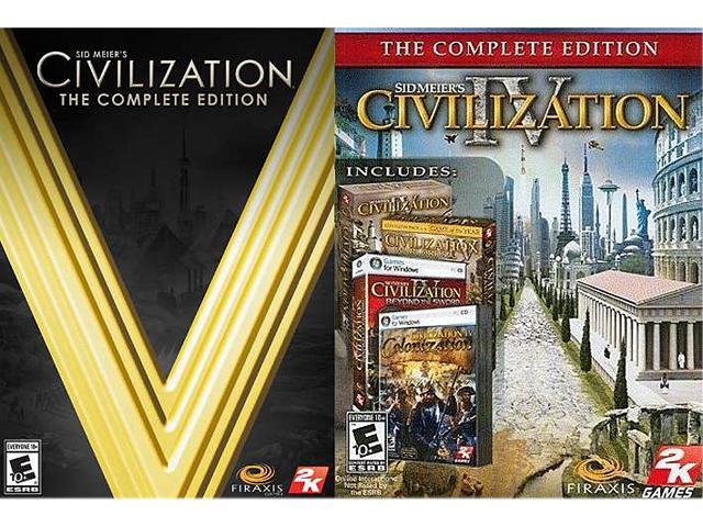 Civilization Power Pack (CIV V Complete, CIV IV Complete) [Online Game Codes]