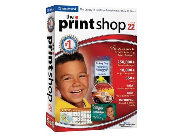 broderbund the print shop 22 software   newegg