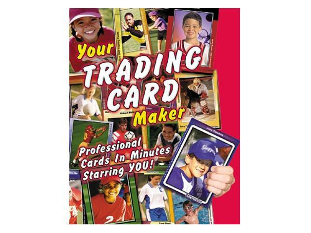 Trading card maker software