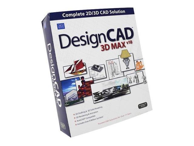 Imsi Designcad 3d Max V18 2d 3d Cad Solution Software