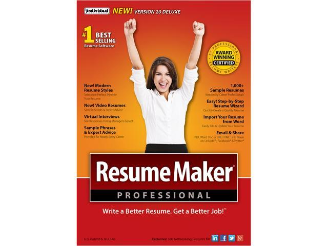 individual software resumemaker professional deluxe 20 - Individual Software Resume Maker