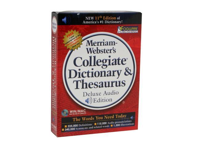 FOGWARE Merriam-Webster's Collegiate Dictionary & Thesaurus 11th Edtion - Newegg.com