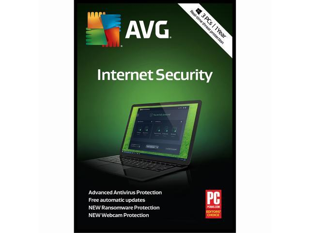 AVG Internet Security 2018, 3 PC / 1 Year [Key Card]