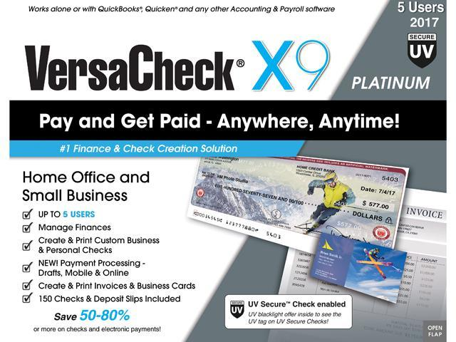 VersaCheck X Platinum UV Secure User Neweggcom - Free business invoices online stores that accept electronic checks