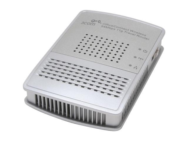 3com 3CRTRV10075-US OfficeConnect Wireless Travel Router IEEE 802.3/3u, IEEE 802.11b/g