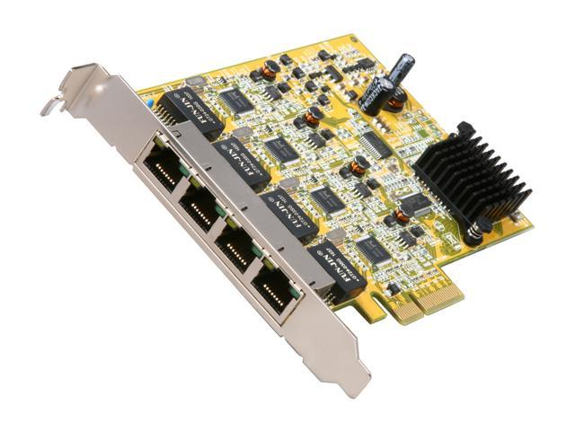 StarTech ST1000SPEX4 10/100/1000Mbps PCI-Express 4-Port Gigabit Ethernet Network Adapter Card