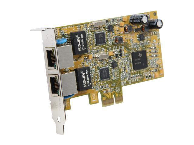 StarTech ST1000SPEXD2 PCI-Express 2-Port Low Profile Gigabit Network Server Adapter NIC Card