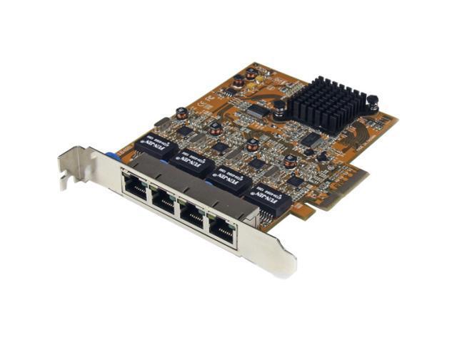StarTech.com 4 Port PCIe Gigabit Ethernet NIC Network Adapter Card – ST1000SPEX42