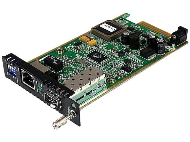 StarTech ET91000SFP2C Gigabit Ethernet Fiber Media Converter Card Module with Open SFP Slot