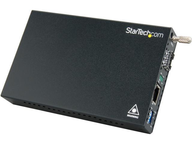 StarTech ET91000SFP2 Gigabit Ethernet Fiber Media Converter with Open SFP Slot