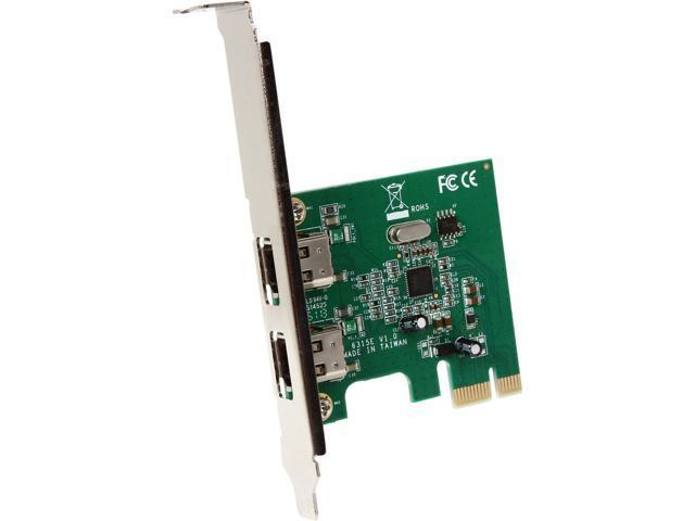 StarTech PEX1394A2V 2 Port 1394a PCI Express FireWire Card Up to 400Mbps FireWire 400 (1394a) 1 - PCI Express x1 2 - Firewire 400 (6 pin; IEEE 1394a) - Retail