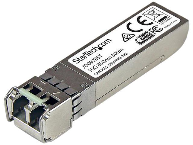 StarTech JD092BST 10 Gigabit Fiber SFP+ Transceiver Module - HP JD092B Compatible - MM LC with DDM - 300m (984 ft) - 10GBase-SR