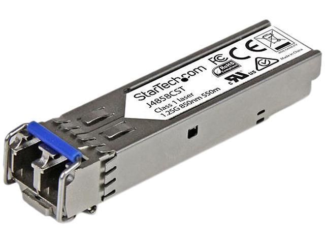 StarTech J4858CST Gigabit Fiber SFP Transceiver Module - HP J4858C Compatible - MM LC with DDM - 550m (1804 ft) - 1000Base-SX