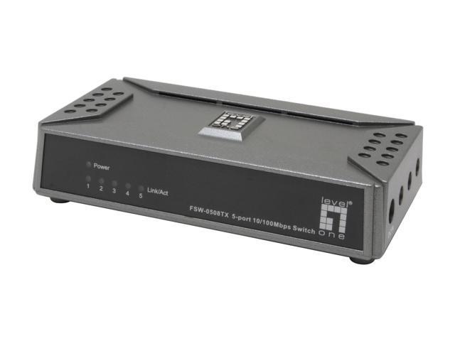 Levelone fsw 0508tx 5 port mini ethernet switch - Mini switch ethernet 3 ports ...