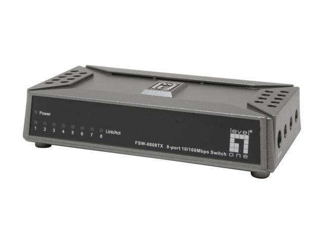 Levelone fsw 0808tx 8 port mini ethernet switch - Mini switch ethernet 3 ports ...