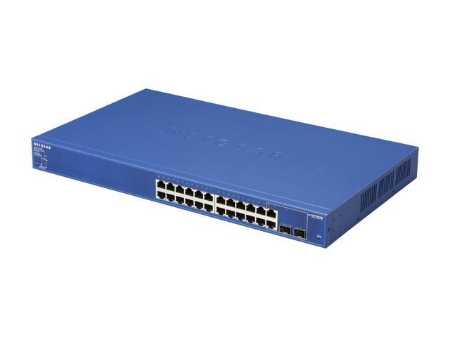 NETGEAR 24 Port PoE Gigabit Smart Switch w/ 2 Combo ports - Lifetime Warranty (GS724TP)