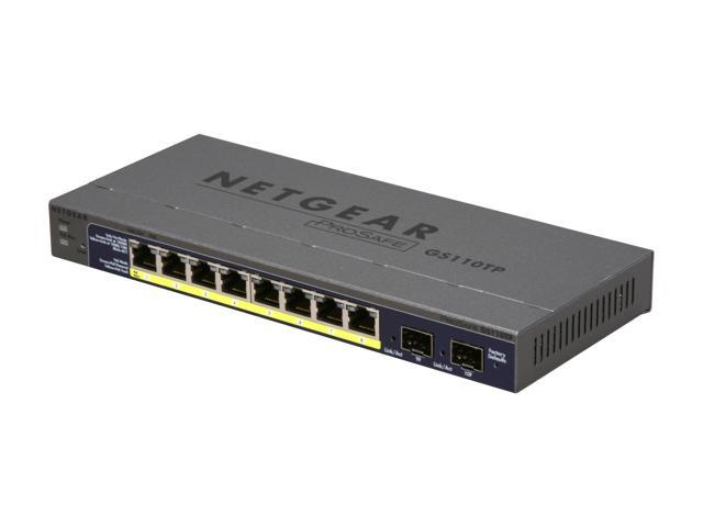 NETGEAR ProSafe GS110TP-100NAS 8-port Gigabit PoE Smart Switch