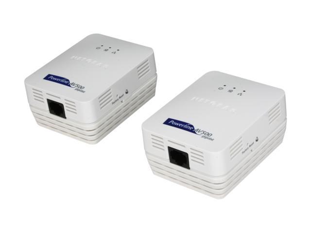 NETGEAR XAVB5001-100NAS Powerline AV 500 Adapter Kit Up to 500Mbps