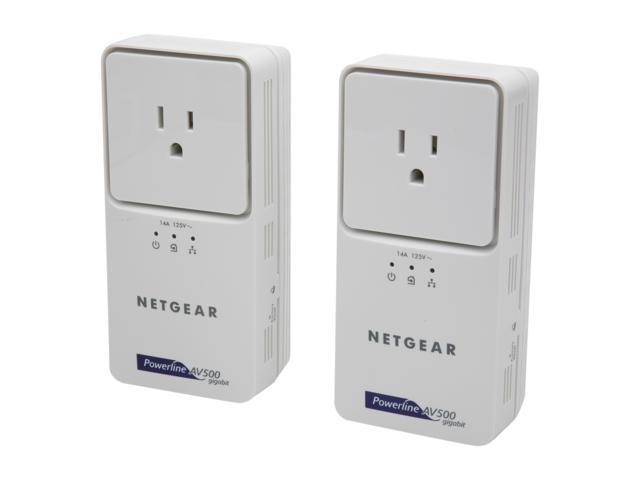 NETGEAR XAVB5501-100NAS Powerline AV+ 500 Adapter Kit Up to 500Mbps