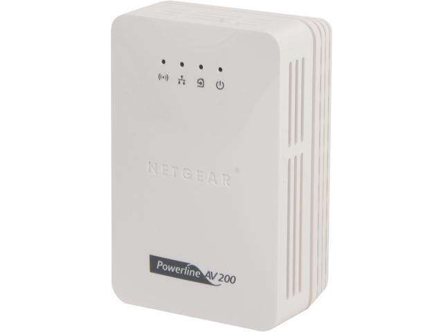 NETGEAR XAVN2001-B Powerline AV 200 Wireless-N Extender Kit Up to 200Mbps