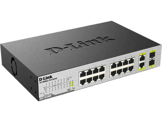 D-Link DES-1018MP Unmanaged Switch