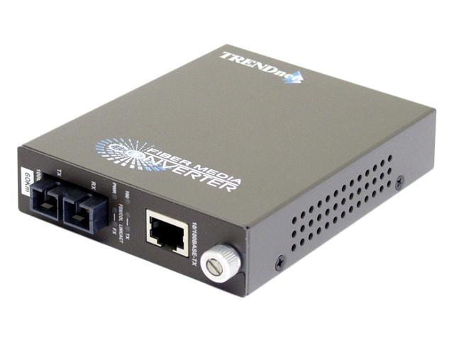 TRENDnet TFC-110S60 Single-Mode Fiber Converter (60Km) with SC-Type Connector