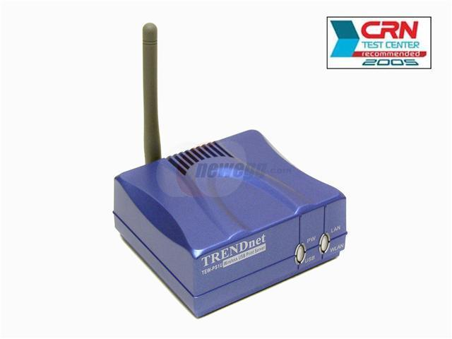 TRENDnet TEW-PS1U Wireless USB Port Multi-Protocol Print Server