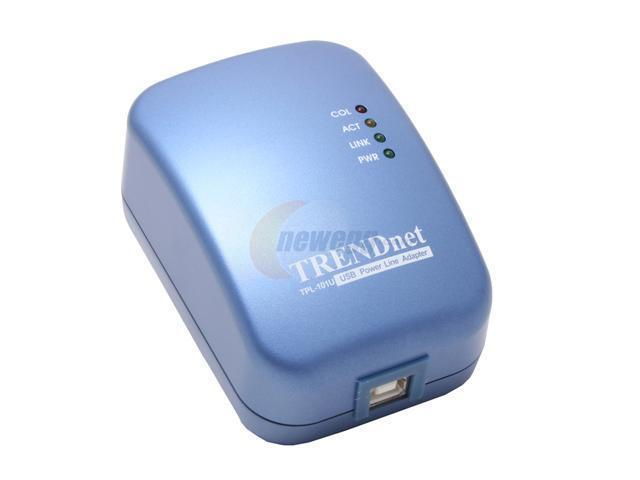 TRENDnet TPL-101U Powerline USB Adapter Up to 14Mbps
