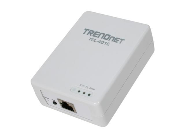 TRENDnet TPL-401E Powerline 500 AV Adapter Up to 500Mbps