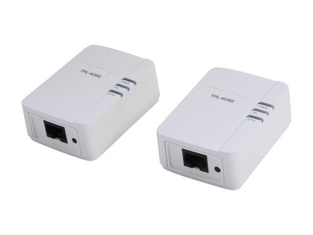 TRENDnet TPL-406E2K Powerline  AV500 Nano Adapter Kit, up to 500 Mbps