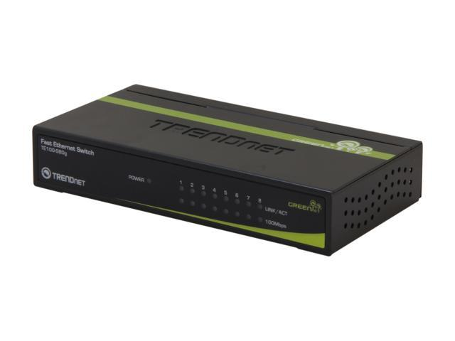 TRENDnet TE100-S80G Unmanaged 8-Port GREENnet Switch