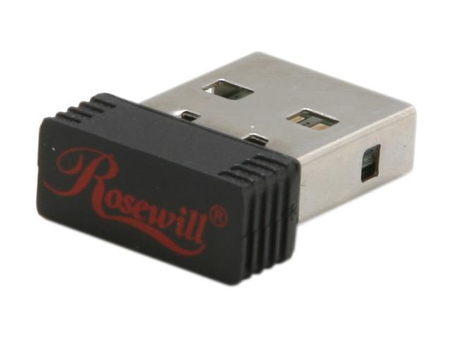 Rosewill RNX-MiniN1 (RWLD-110001) IEEE 802.11b/g/n, USB2.0 Wireless-N 2.0 Dongle (1T1R) Up to 150Mbps Data Rates, WEP 64/128, WPA/WPA2, and IEEE 802.1x