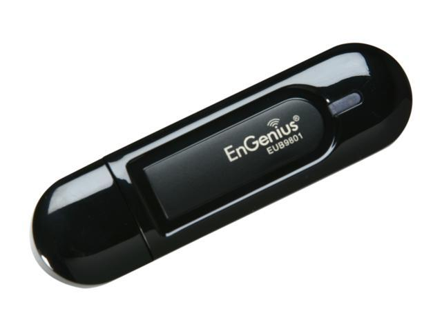 EnGenius EUB9801 Dual-Band Wireless N Adapter 300Mbps on 2.4GHz or 300Mbps on 5GHz, USB 2.0, WPS Button