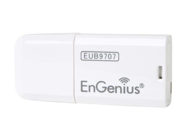 EnGenius EUB9707 Wireless-N Mini Adapter IEEE 802.11b/g/n, Up to 150Mbps, WPS Button