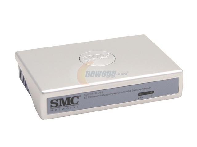 SMC LG-ERICSSON SMCHP1D-USB Powerline to USB Desktop Adapter Up to 14Mbps