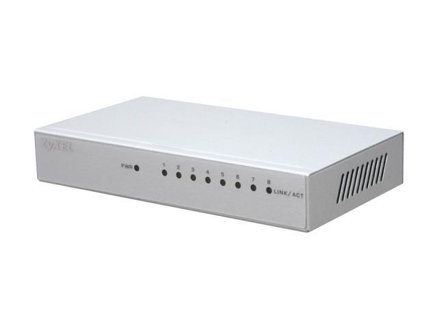 zyxel gs108bv3 8 port gigabit ethernet switch with metal housing u0026 green energy saving technology