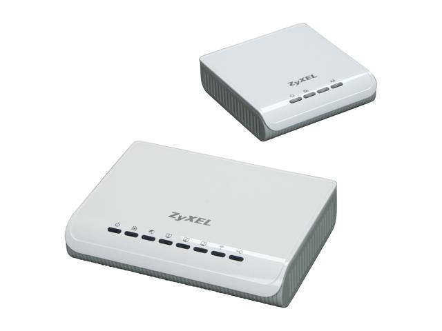 ZyXEL NBG318SKIT-400-SP 3-in-1 Wireless Router with 200 Mbps Powerline HomePlug AV Adapter - OEM