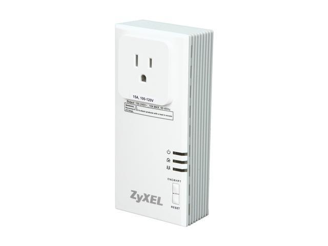 ZyXEL PLA407 Powerline Ethernet Adapter with Extra Plug for Convenient HD Video Streaming