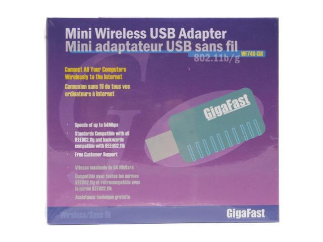GIGAFAST WF748-CUI USB 2.0 Mini Wireless Adapter