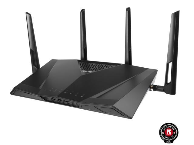 ASUS AC3100 4x4 Wireless Dual-Band 4-Port Gigabit Gaming Router with AiProtection (RT-AC3100/CA)