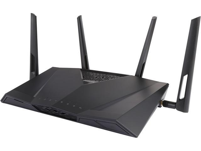 ASUS RT-AC3100 Wireless AC3100 Dual-Band Gigabit Router, AiProtection with Trend Micro for Complete Network Security-Certified Refurbished