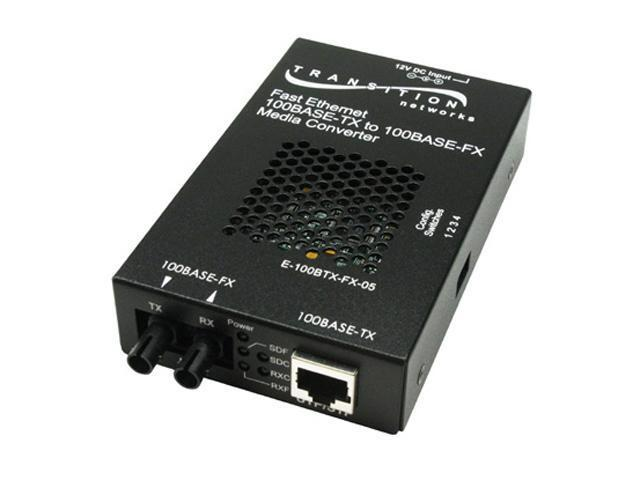 TRANSITION E-100BTX-FX-05 Stand-Alone Media Converter