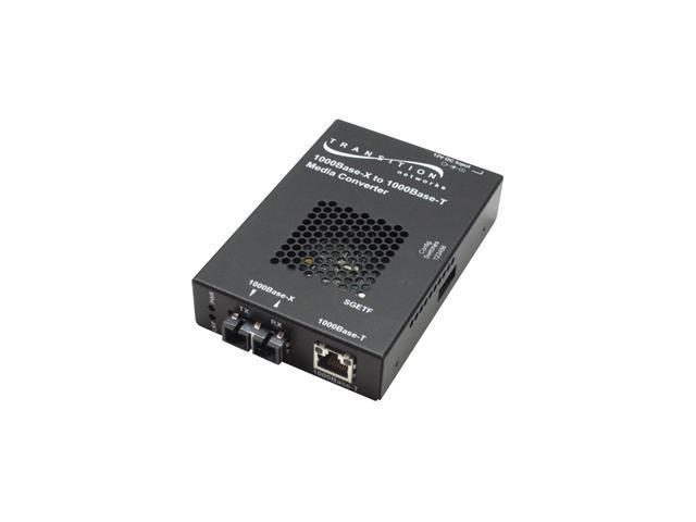 Transition Networks Gigabit Ethernet Stand-Alone Media Converter