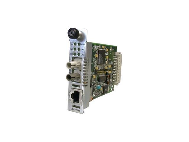 Transition Networks Point System CSETF1011-205 Media Converter - 1 x RJ-45 , 1 x ST Duplex - 10/100Base-TX, 100Base-SX