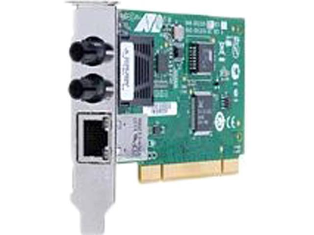 Allied Telesis 100Mbps Fast Ethernet Dual-Port Fiber and Copper Network Interface Card