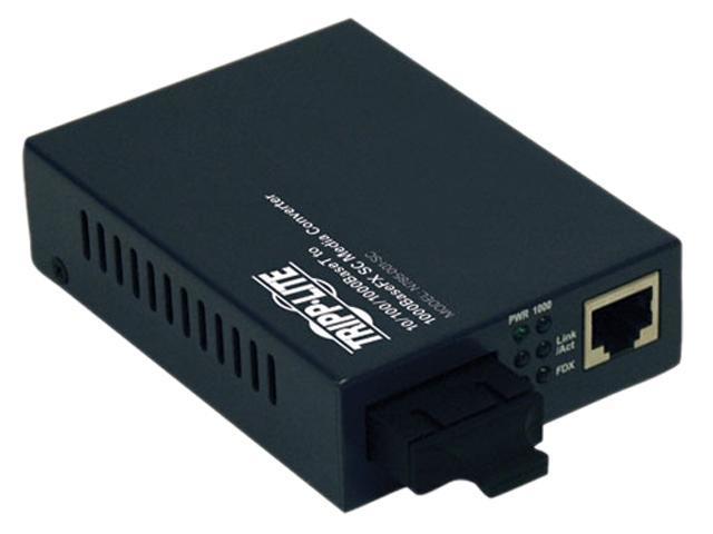 Tripp Lite N785-001-SC 10/100/1000BaseT to 1000BaseFX-SC Gigabit Media Converter